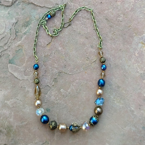 Luxe Vyntage Blues Necklace