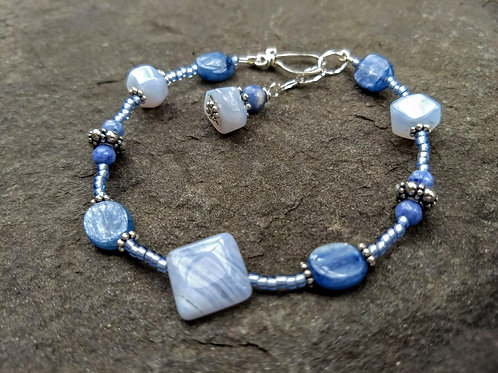 Kyanite and Blue Lace Agate Bracelet