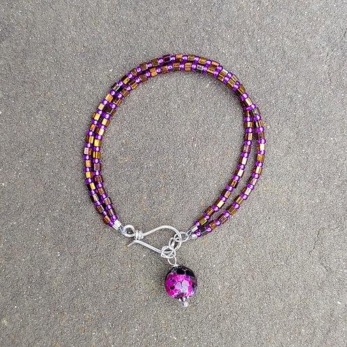 Hex Seed Bead Bracelet