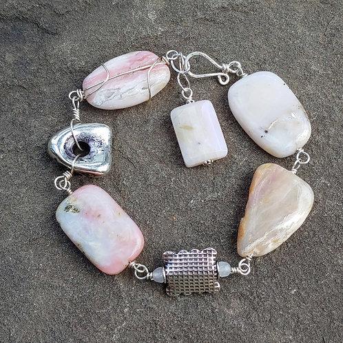 Chunky Pink Opal Bracelet