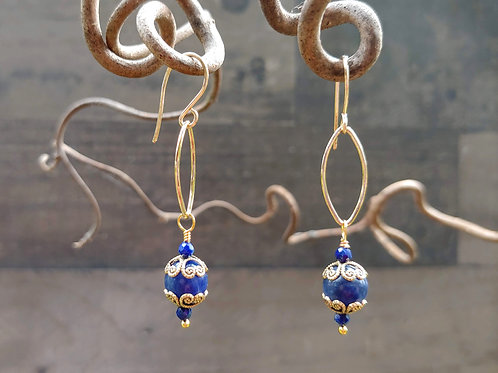 Sodalite with Ovals Earrings