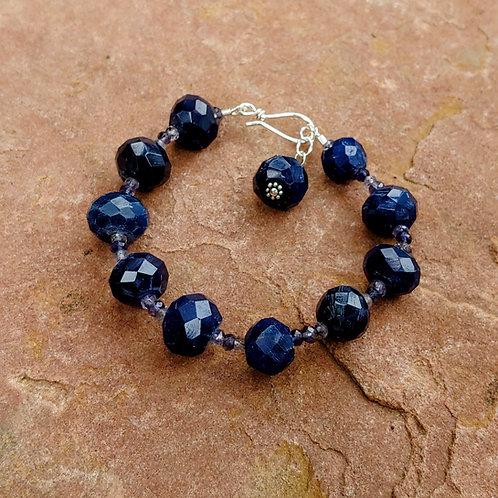 Deep Blue Chalcedony Bracelet