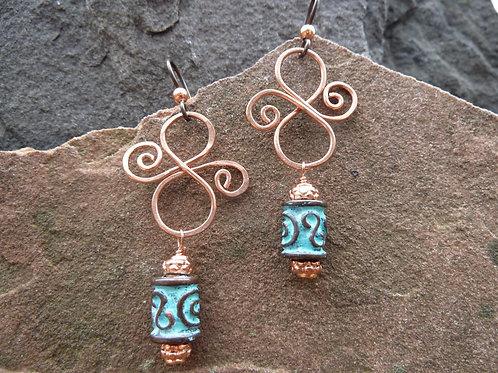 Greek Island Fancy 8s Earrings