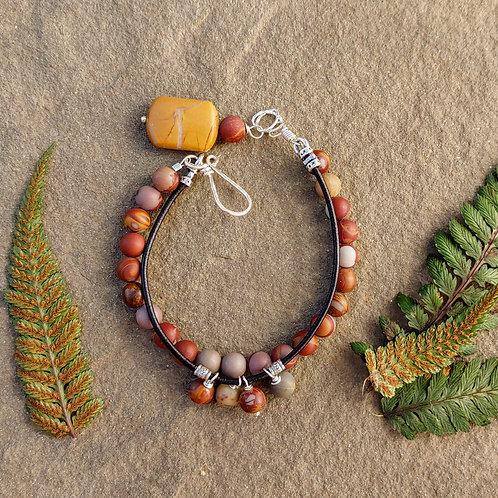Noreen Jasper Layered Bracelet