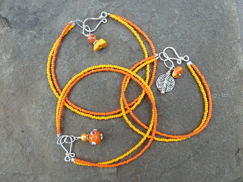 Citrus and Sunshine Anklet or Bracelet