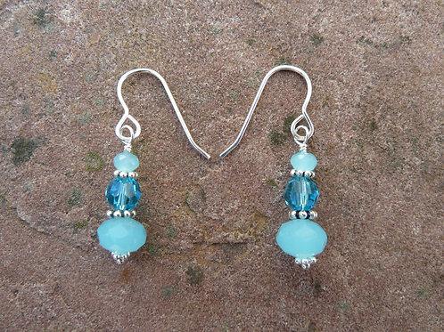 Aqua Simple Earrings