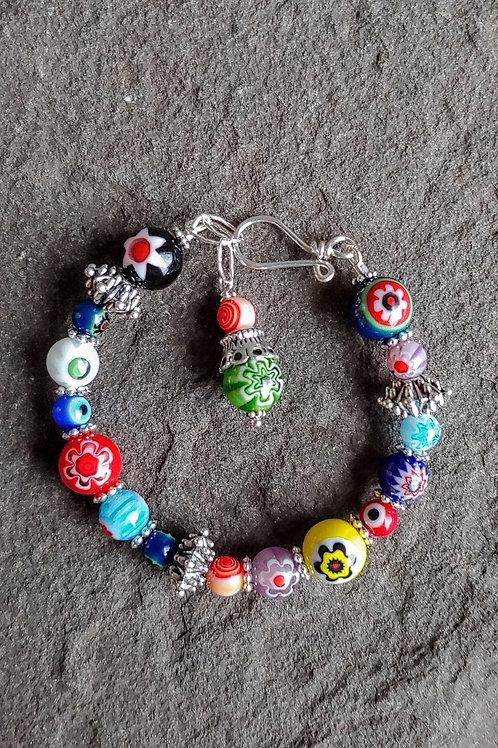 Silver Beads Carnevale Bracelet