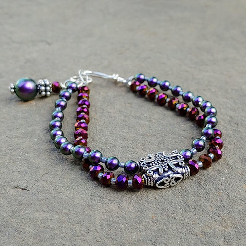 Stunning Purples Double Bracelet