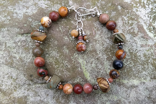 Red Creek Jasper Bracelet w/Nuggets