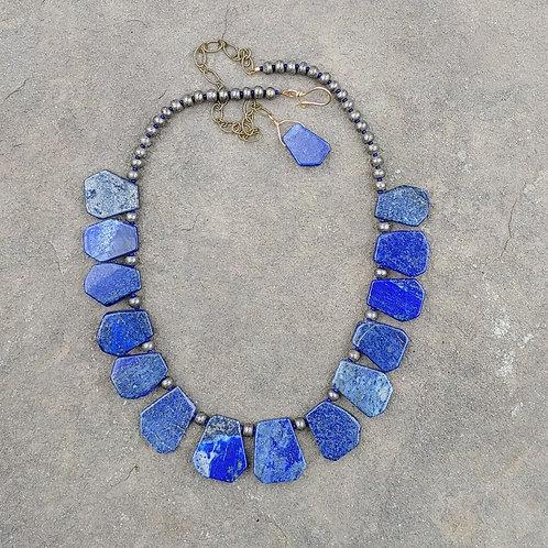 Lapis Lazuli Slab Necklace