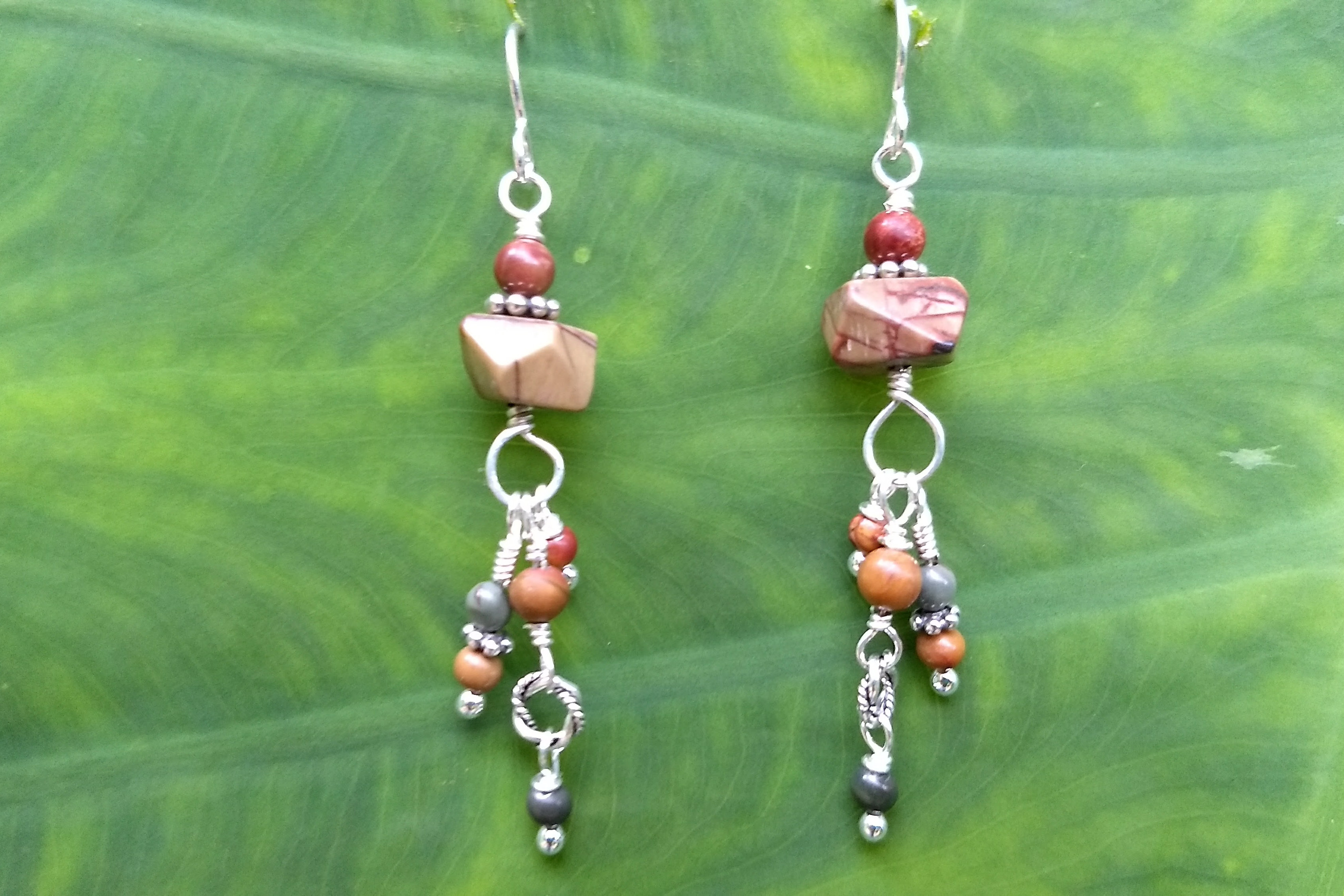 bethany dell agnello jewelry red creek jasper twin earrings