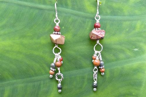 Red Creek Jasper Twin Earrings