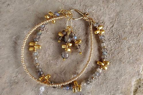 Golden Labradorite Combination Bracelet