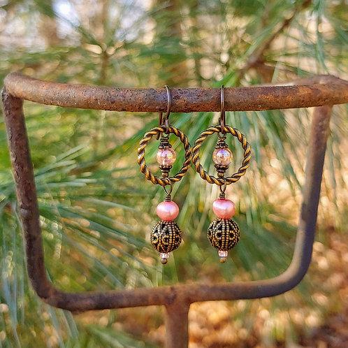 Braided Ring Vyntage Earrings