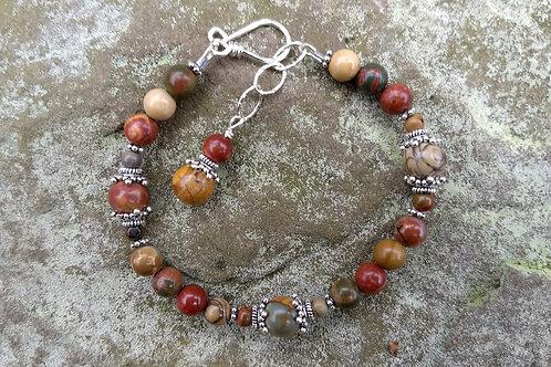Red Creek Jasper w/Fancy Beads