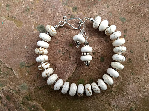 White Turquoise Simple Bracelet