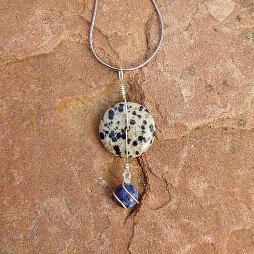 Dalmatian Jasper Sodalite Simple Pendant
