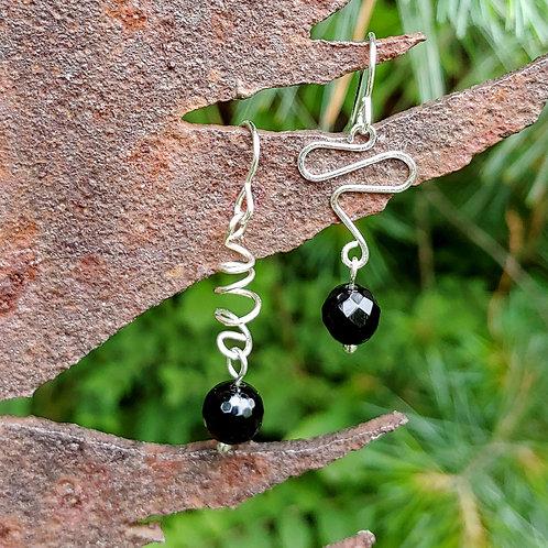 Simple Black Sister Earrings