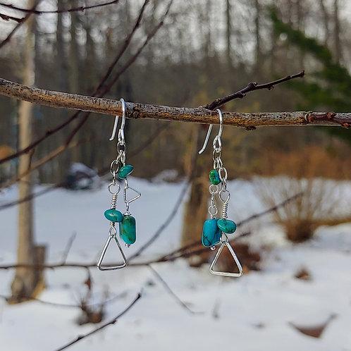 Turquoise Geometry Earrings