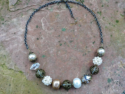 Chunky Vintage Wedding Necklace