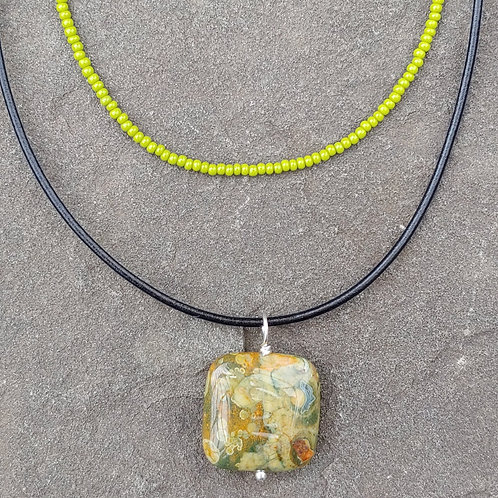 Layered Rhyolite Necklace