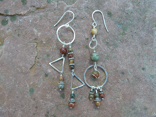 Red Creek Jasper Sister Earrings
