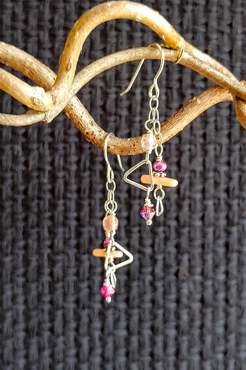 Dainty Summer Pinks Earrings