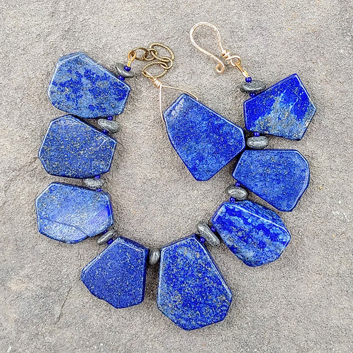 Lapis Lazuli Slab Bracelet