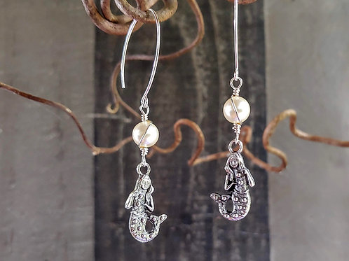 Mermaids and Pearls Earrings