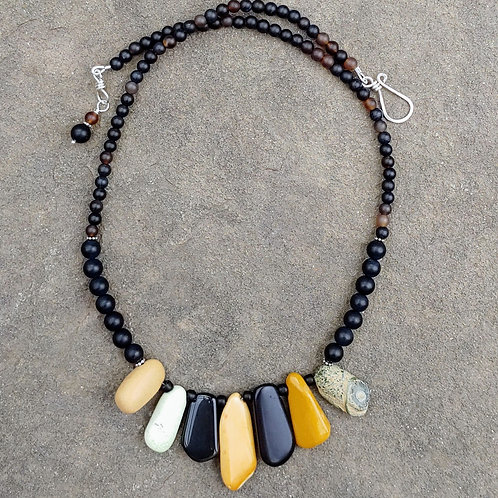 Earthtone Tongues Necklace