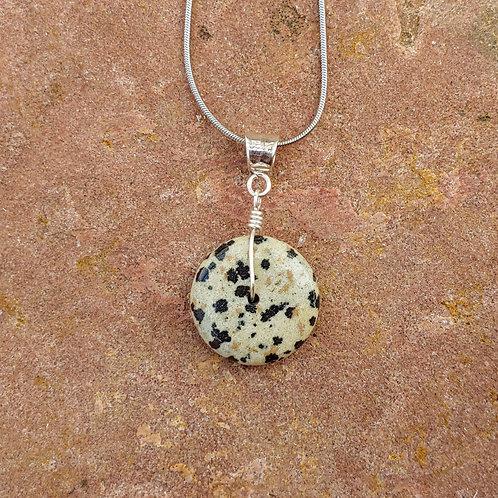 Simple Dalmatian Jasper Pendant