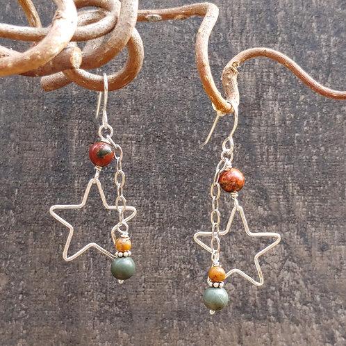 Earth and Stars Earrings