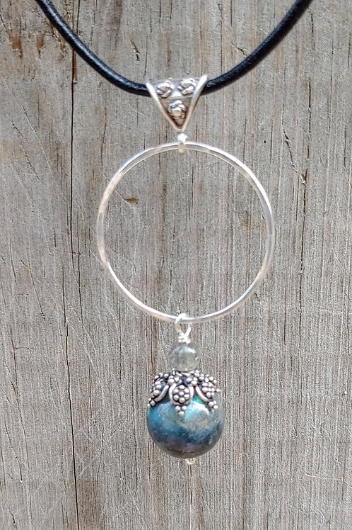 Labradorite with Fancy Bali Bead Cap