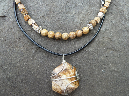 Picture Jasper Layered Necklace