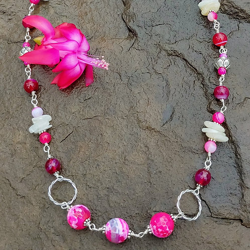 Orchids in Bloom Necklace