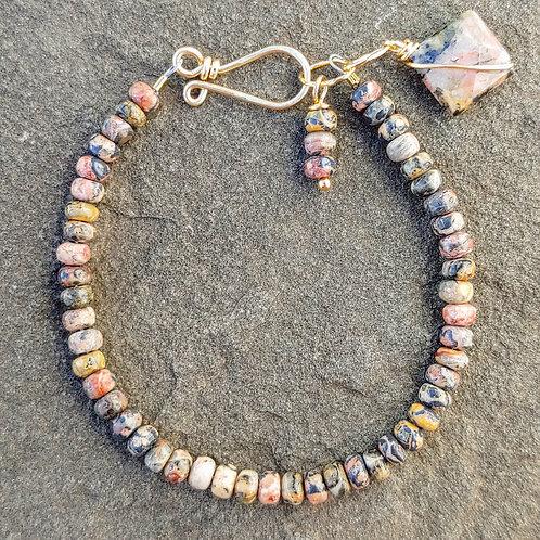 Leopardskin Jasper Simple Bracelet