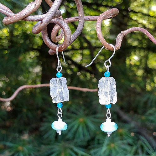 Crashing Waves Agate Earrings