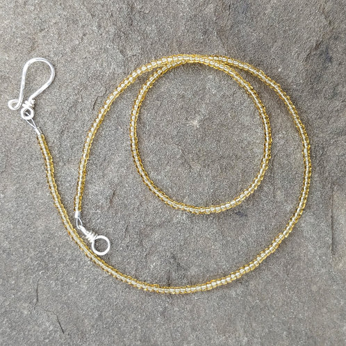 Clear Yellow Seed Bead Strand