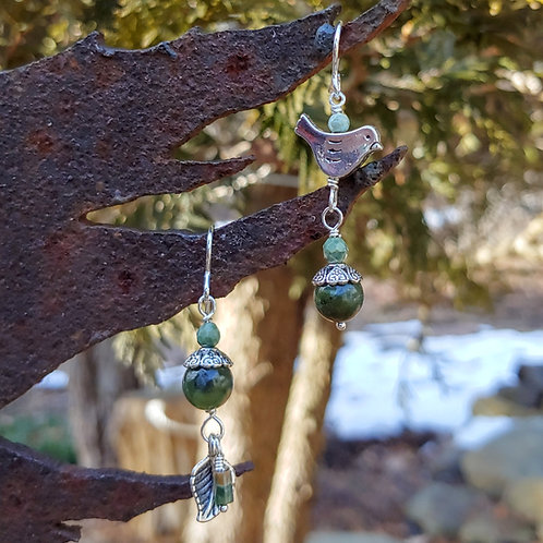 BC Jade Nature Inspired Sister Earrings