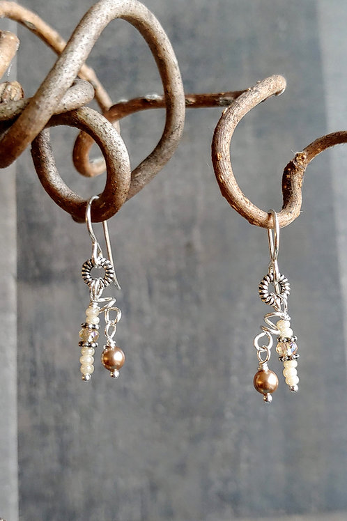 Champagne Neutral Micro Earrings