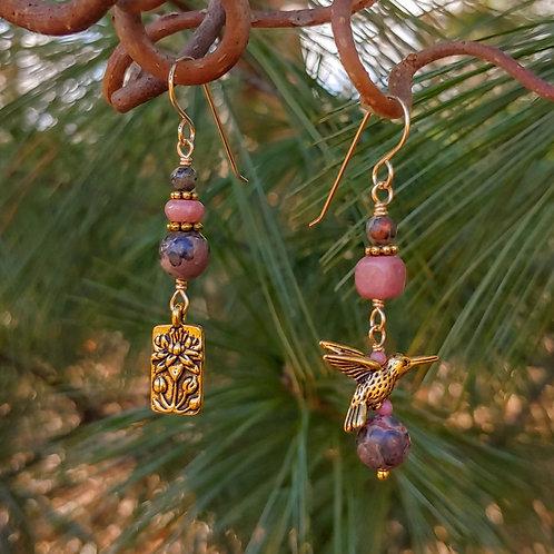 Golden Nature Sister Earrings