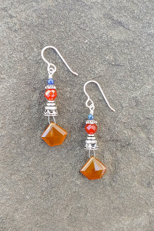Caramel Chalcedony Earrings