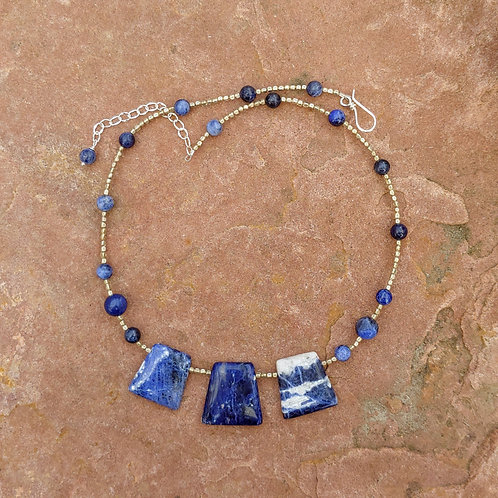 Sodalite Slab Necklace