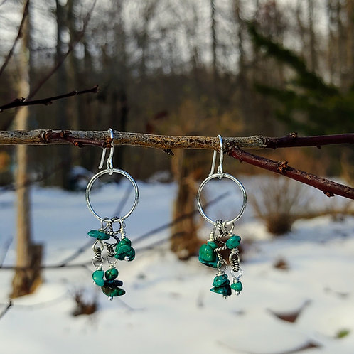 Turquoise Doo-dad Earrings