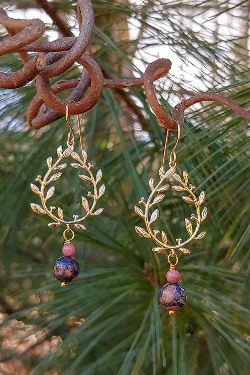 Laurel Wreath Jasper Earrings