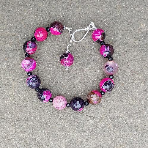 Purple Crackled Agate Bracelet