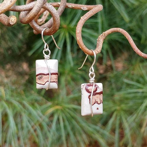 Jasper Rectangle Earrings