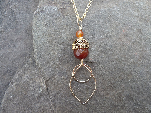 Carnelian and Gold Pendant