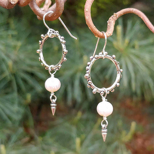 Bold Freshwater Pearl Earrings