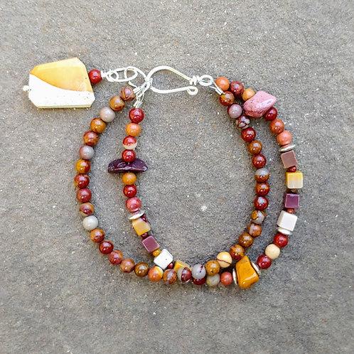 Mookaite Double Bracelet